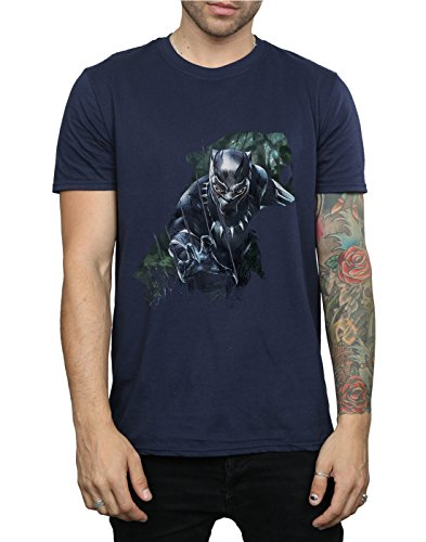 Silhouette Bleu Marin T Wild Panther shirt Homme Absolute Marvel Cult Black RnZzzYFq