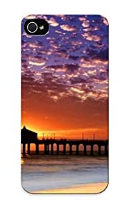 Charlesvenegas Iphone 5/5s Hybrid Tpu Case Cover Silicon Bumper Sunset Peir