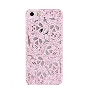 Mini - Skull Design Ultralighte PC Case for iPhone5/5s , Color: Pink