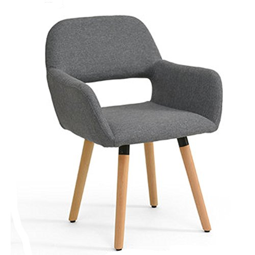Computer Chair Home Wood Dining Chair Simple Modern Computer Desk Back Office Study Chair, 12 Colors Optional / 79 42 40cm ZHML (Color : Twilight Gray)