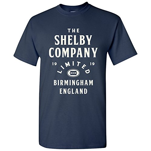20s Gangster Shirt - UGP Campus Apparel Shelby Company Limited - Peaky Birmingham England 1920s TV Show T Shirt - Small - Navy