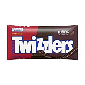 TWIZZLERS Licorice Candy, Hershey Chocolate, 12 Ounce (Pack of 6)