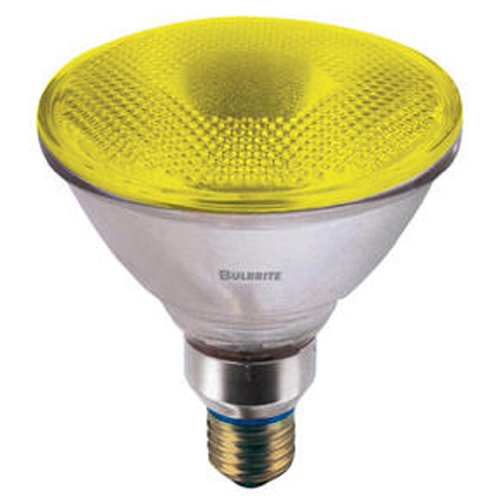 Bulbrite H90PAR38Y 120V 90W PAR38 Halogen Light, Yellow