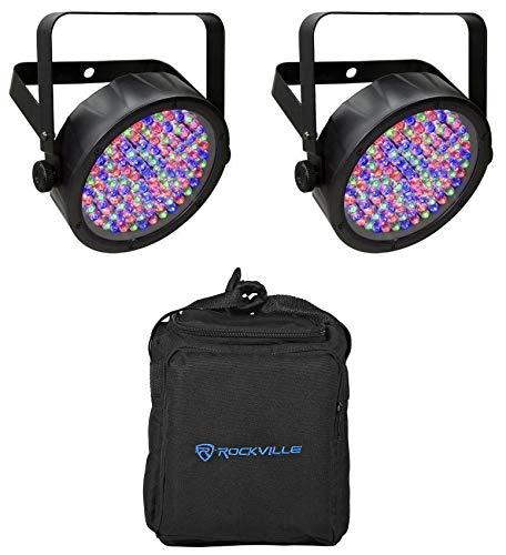 - Chauvet DJ SlimPar 56 LED DMX SlimPar Can Light Effect (2 Pack) + Transport Bag