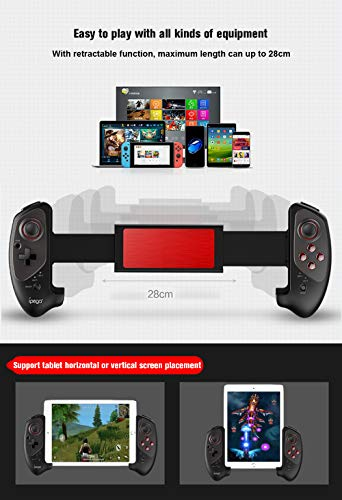 OMKARSY Wireless Bluetooth Adapter 3 0 Joystick Gamepad,with 5-10 Inch  Telescopic Holder for Mobile Phone Tablet PC Android Switch TV Box