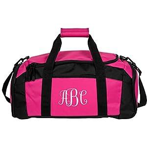 Your Initials Here Custom Monogram: Port & Company Gym Duffel Bag