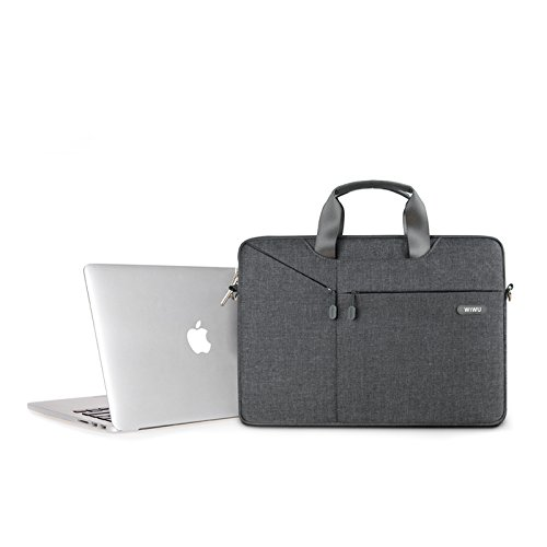 Carry Business Multi Grey Computer Shoulder functional Wiwu Luxury Messenger Laptop Case Bag Briefcase Hand aFHqwZ1