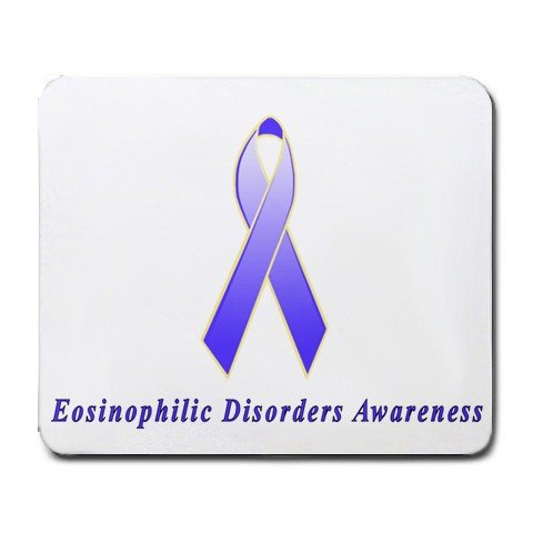 Eosinophilic Disorders Awareness Ribbon Mouse Pad