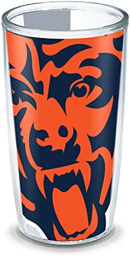 Tervis 1193013 NFL Chicago Bears Colossal Wrap Individual Tumbler, 16 oz, Clear]()