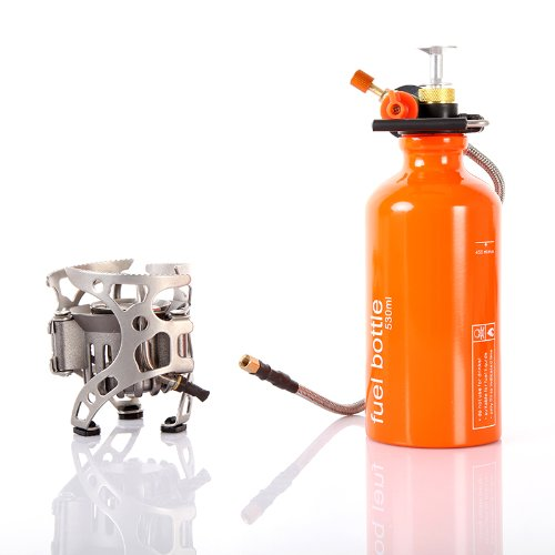 Lixada Portable Multi Fuel Outdoor Backpacking Camping Picnic Stove Oil Gas Furnace - Multi Fuel Camping Stoves