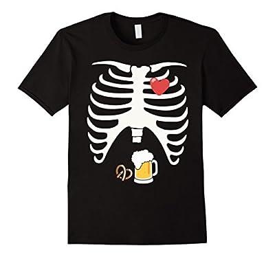 Halloween Shirt Skeleton Beer Belly Xray Funny Men's T-Shirt