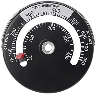 Qiulip Magnetisches Ofenrohr/Ofenrohr/Thermometer, Mehrbrennstoff-Holzofen, Ofenrohr