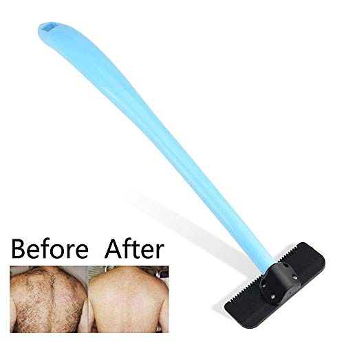 Back Shavers for Men-Aolvo Manual Personal Back Hair Remover with Extra Long Handle Easy to Use Painless Body Groomer and Trimmer Kit