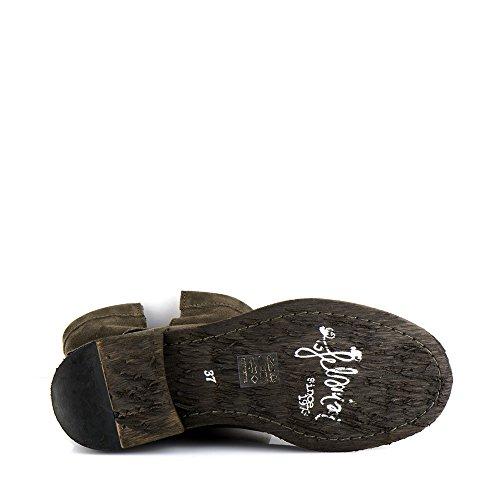 Felmini - Zapatos para Mujer - Enamorarse com Gredo A283 - Botas Militares - Cuero Genuino - Verde Verde