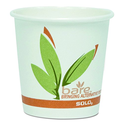 Dart 412RCN Bare by Solo Eco-Forward Recycled Content PCF Paper Hot Cups, 12 oz(Case of 1000)