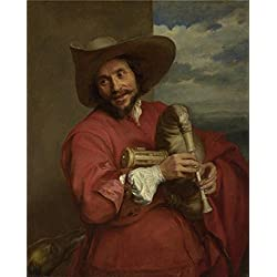 Oil Painting 'Anthony Van Dyck - Portrait Of Franois Langlois,probably Early 1630s' 10 x 12 inch / 25 x 32 cm , on High Definition HD canvas prints, gifts for Bed Room, Hallway And Study Room decor