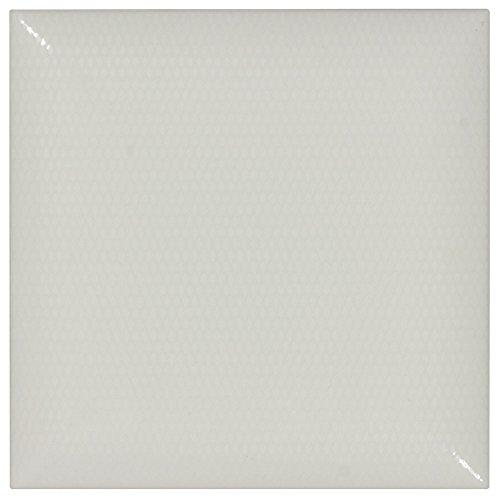 (MTO0025 Classic Pillowed White Glazed Ceramic Tile)