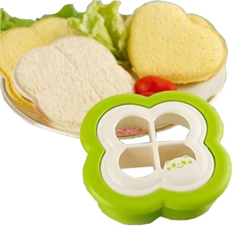Four-leaf Clover Shaped DIY Pocket Sandwich Maker Bread/Toast Mould Cutter (Panda Bread Cutter compare prices)