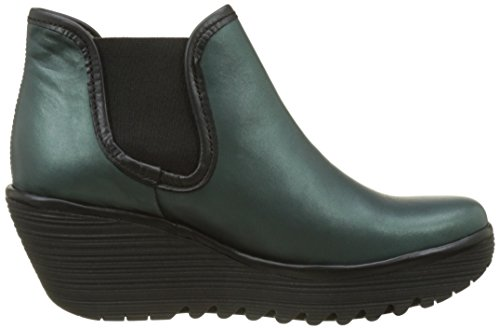 Fly London Damen Stiefel Yat Grün (alghe Nero)