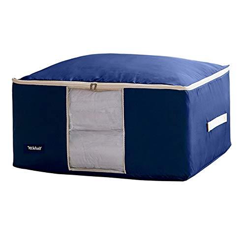 Hemau Premium New Soft Oxford Storage Bag for Quilt Blanket Clothes Comforter (Dark Blue, XXL) | Style -