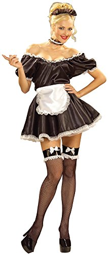 Forum Novelties Women's Fifi The French Maid Costume, Black/White, One Size