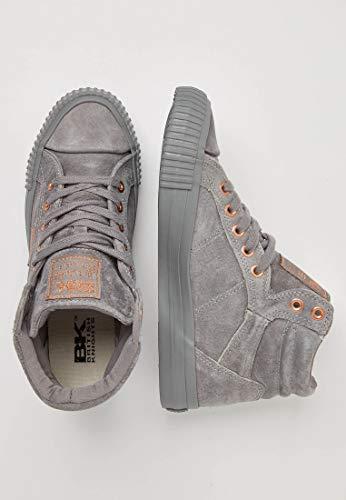 Grau Hohe Damen Knights 01 Grey Dee British Sneaker 7BTPcq