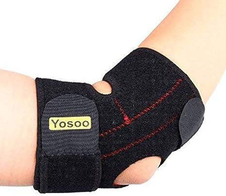 Venda de neopreno ajustable para el codo Yosoo, para codo de tenista, golf, cuidados para él y ella, talla universal, negro