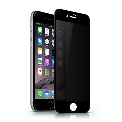 iPhone 6 Plus Privacy Tempered Glass Screen Protector,MOZEEDA Superior HD Anti Spy Privacy Screen Protector Film For iPhone 6 Plus 6s Plus,No Glare,Anti Scratch,Full Coverage,Visible In Sun (Black) (Tempered Sun Glass)