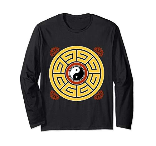 I Ching Feng Shui Taoist Mandala Amulet Antique Chinese Long Sleeve T-Shirt