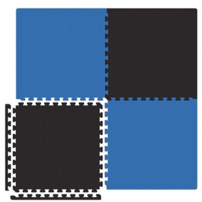 Economy SoftFloors Set in Royal Blue / Black Size: 20′ x 30′