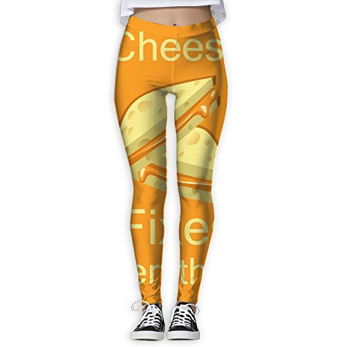 Ammonia Fix (Cindly Cheese Fixes Everything Food Humor Women's Slim Yogapants)