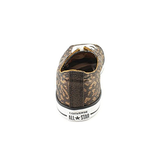 Converse Kid 's Chuck Taylor All Star Estacional Ox Fashion – Camiseta de zapatilla Bronze Metallic/Black