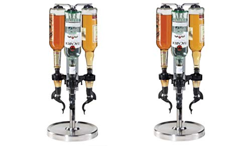 Oggi Professional 3-Bottle Revolving Liquor Dispenser (Pack of 2)