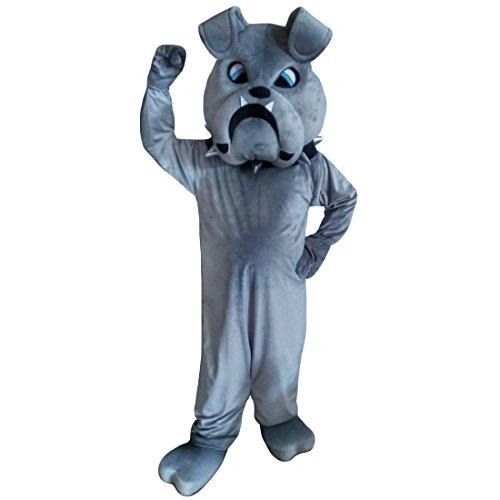 Grey Bulldog Dog Shapi Mascot Costume Real Picture Langteng ()