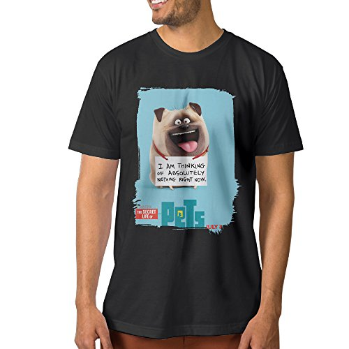 Men The Secret Life Of Pets Met Dog Round Neck T Shirts