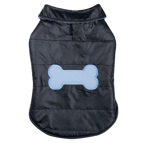 Casual Canine Polyester Snow Puff Dog Vest, X-Large, 24-Inch, Navy