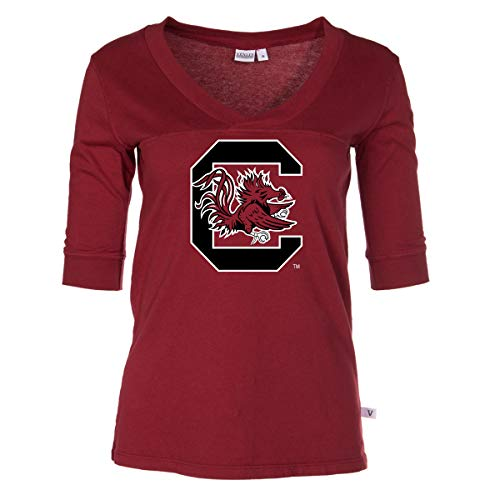 Official NCAA South Carolina Gamecocks - Women's 3/4 Sleeve Football - Football Sleeve 3/4