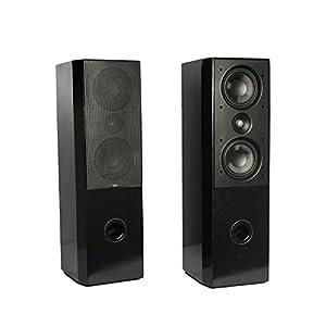 PANDA AUDIO KV-808-T-PEARL Black 2.0 Tower Speaker