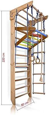 Espaldera de Fitness, Espaldera para Gimnasio Kinder-4-220-Color Complejo Deportivo de Gimnasia, Niños de Juegos 220x80: Amazon.es: Deportes y aire libre