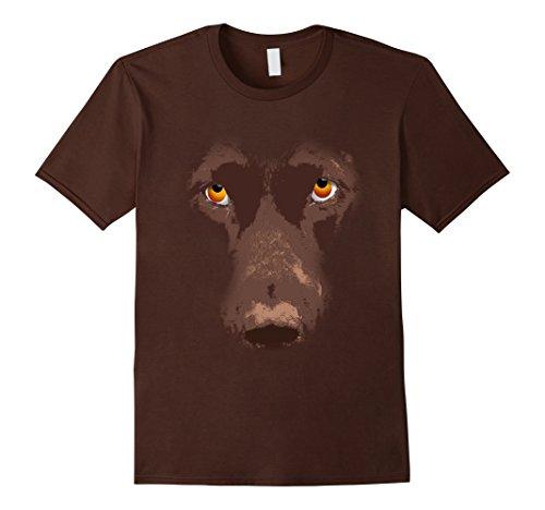 Mens Cute Chocolate Labrador Face T-Shirt - Lab Dog DIY Costume XL (Chocolate Lab Costumes)