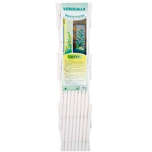Verdemax 7549/2/x 1/m PVC Extensible Treillis/ /Blanc