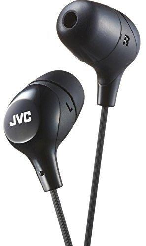 JVC Memory Foam Earbud Marshmallow Memory Foam Earbud with Mic Black (HAFX38MB)
