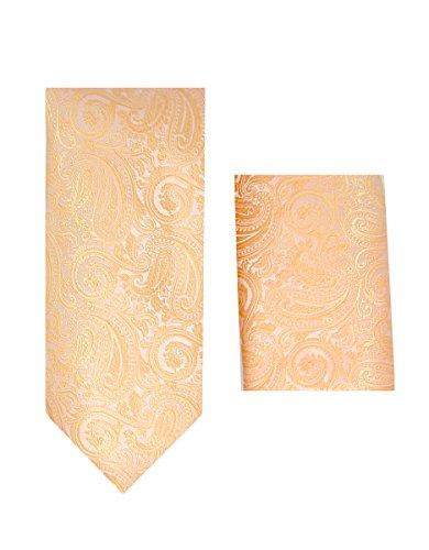 Oliver George Paisley Necktie Set (Peach) #2313-D