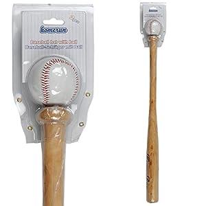 Baseballschläger aus Holz mit Ball