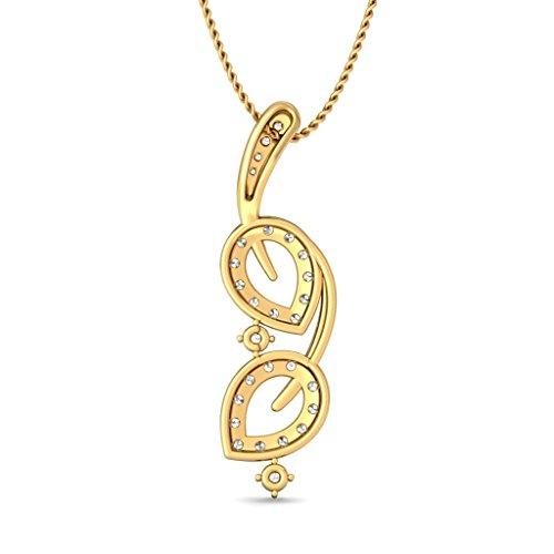 Or jaune 18K 0,55CT TW Round-cut-diamond (IJ | SI) Pendentif