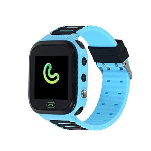 LEERYAAY T18 Smart Watch Phone Kids Children Phone Watch for Android iOS IP67 Waterproof Blue