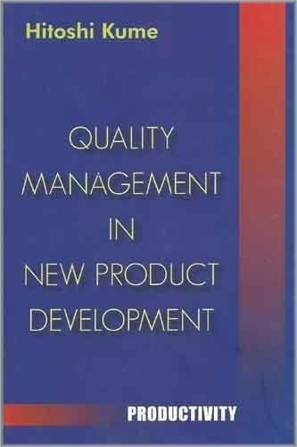 Read Online Quality Management in New Product Development pdf epub