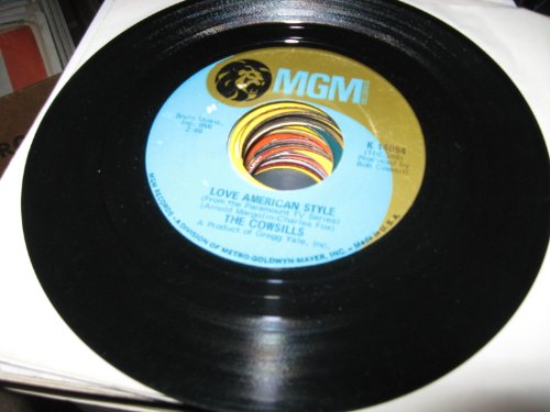 love american style / silver threads and golden needles 45 rpm single (The Cowsills Silver Threads And Golden Needles)