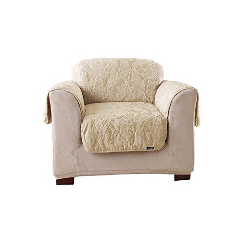 SureFit Matelasse Damask  - Chair Slipcover  - Linen