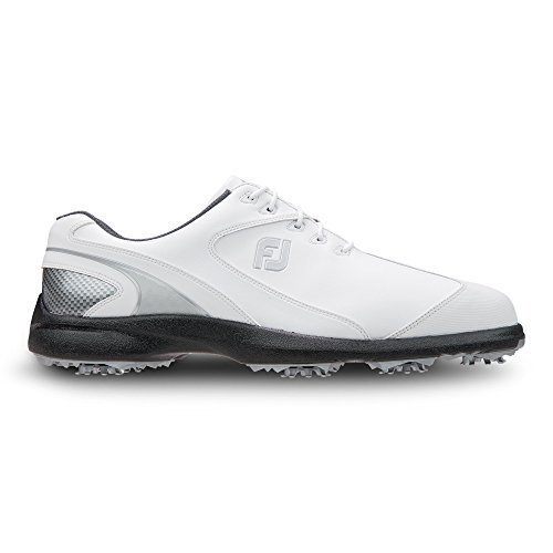 Mens FootJoy Sport LT 58035 White/Silver Waterproof Golf Shoes (10.5 M)